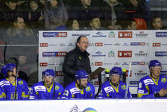 Head coach of Ukraine ice-hockey team David Lewis Royalty Free Stock Images
