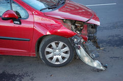 Head-on collision. One car involved in a head-on collision royalty free stock images
