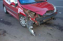 Head-on collision Royalty Free Stock Photo