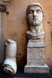 Head of the Colossus of Constantine. Colossus of Constantine was a colossal acrolithic statue of the late Roman emperor Constantine the Great (c. 280-337) Stock Photos