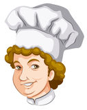 A head of a curly-haired chef Royalty Free Stock Photos