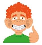 Boy show braces stock illustration