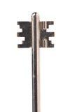 Head of dark steel key. Royalty Free Stock Image