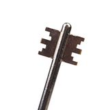 Head of dark steel key. Stock Image
