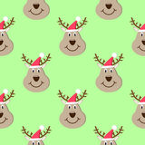 Head deer cartoon christmas seamless pattern. Head deer cartoon christmas seamless pattern Royalty Free Stock Photos