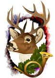 The head of a deer. (Vector) Stock Photography