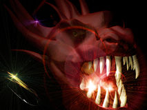 Head of the demon. Cg and 3d manipulation Royalty Free Stock Images