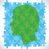 Head is design with puzzle piece royalty free illustration