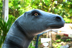 Head Dinosaur statues Stock Image