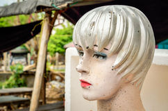 Head of dirty mannequin doll Royalty Free Stock Images