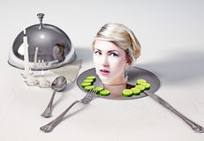 Head  on a dish Royalty Free Stock Photos