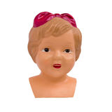 Head doll with a bow Royalty Free Stock Images