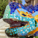 Head dragon Barcelona Gaudi Stock Photography