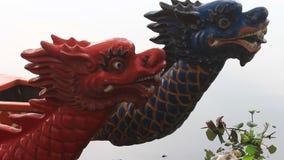 Head dragon boat, a unique culture of Vietnam stock video footage