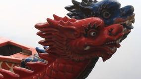 Head dragon boat, a unique culture of Vietnam stock footage