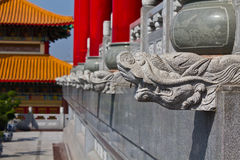 Head of dragon statue  chinese style Stock Photo