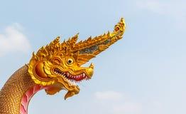 Head Dragon statue. thai style Stock Image