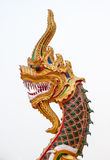 Head of dragon. In the temple Stock Photos