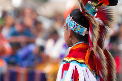 Native american Headdress. Headdress of young American Indian at Powwow Stock Photography