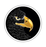 Head of Eagle Logo with Round Black Background,Vector Illustration, Isolated Vector royalty free illustration