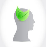 Head and eco mind illustration design Stock Photography