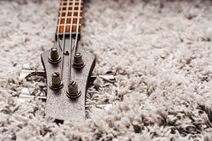 Head of an electric bass Stock Photography