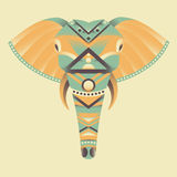 The head of an elephant vector illustration Royalty Free Stock Photography