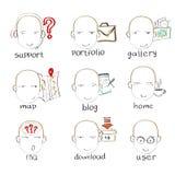Head Emotion Web Site Navigation Menu Button Royalty Free Stock Images