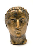 Head of emperor Constantine. On white Stock Image