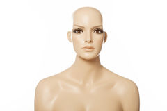 Head of a female mannequin face Royalty Free Stock Photos
