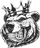Head of a ferocious bear Stock Photography