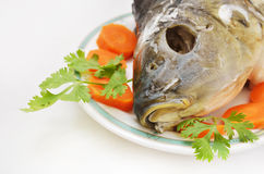 Head of fish as jewish new year symbol Royalty Free Stock Images