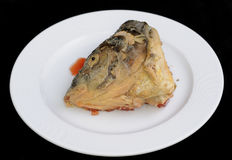 Head of fish stuffed Stock Images