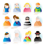 head folk vektor illustrationer