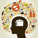 Head food5 Royalty Free Stock Images
