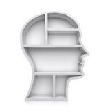 Head form 3d stock illustrationer