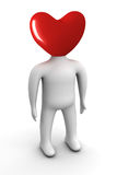 Head in the form of heart. Royalty Free Stock Images