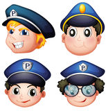 Head of four cops Stock Image