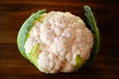 A head of fresh cauliflower on dark  background Stock Photography