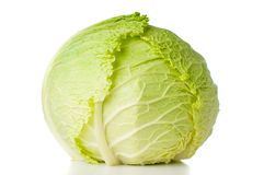Head of fresh savoy cabbage Royalty Free Stock Photo