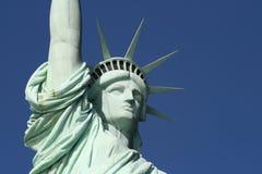 head frihet skuldrar statyn Arkivfoto