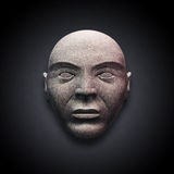 head gammal sten vektor illustrationer