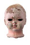 head gammalt för docka Arkivfoton