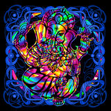 Head of a Ganesha is a psychedelic painting Stock Photo
