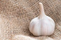Head of garlic lying on the table Stock Photo