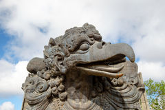Head of Garuda. Mythical being statue of Garuda in Garuda Wisnu Kencana cultural park of Bali Stock Photos