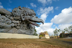 Head of Garuda. Mythical being statue of Garuda in Garuda Wisnu Kencana cultural park of Bali Royalty Free Stock Photos