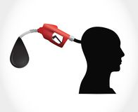 Head and gas pump. illustration design Royalty Free Stock Photos