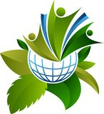 Ecology world logo stock illustration