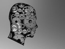 Head with gears Stock Photography